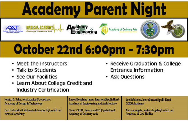 Academy Parent Night